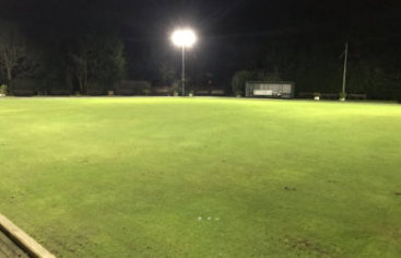 100lux LED floodlighting upgraded bowling green.