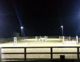 60m x 20m Horse arena using 4 x 6m retractable floodlights