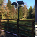Horse arena floodlighting mast