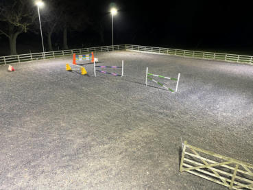 Horse manege led floodlighting