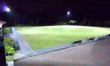 Retractable HID Floodlights for crown Green bowling
